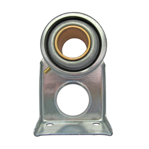 Stamped Steel Bearing Ball Sintered Bronze Bushing 3 Bolt Hanger Bearing with Cushion, 16 Gauge - 1 1/4""