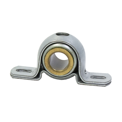 Stamped Steel Bearing Ball Sintered Bronze Bushing 2 Bolt Pillow Block Bearing, 13 Gauge -  3/4""
