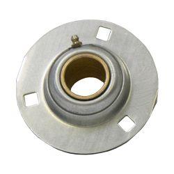 "Sintered Bronze with Stamped Steel Ball 3 Bolt Flange Bearing, 14 Gauge  - 1  1/2 "", part number EFF24J, EF Series, primary image"