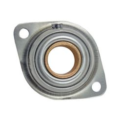 """Sintered Bronze with Stamped Steel Ball 2 Bolt Flange Bearing, 13 Gauge  - 1  1/2 """", part number FCF24A, FC Series, primary image"""