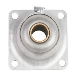 """Sintered Bronze with Stamped Steel Ball 4 Bolt Flange Bearing, 16 Gauge  -   3/4 """", part number FDH12A, FD Series, primary image"""