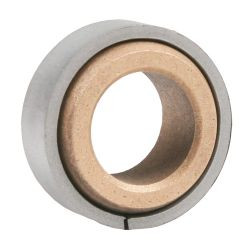 """Sintered Bronze Spherical Bearing with Ring, 16 Gauge  -   3/4 """", part number HDB12, HD Series, primary image"""