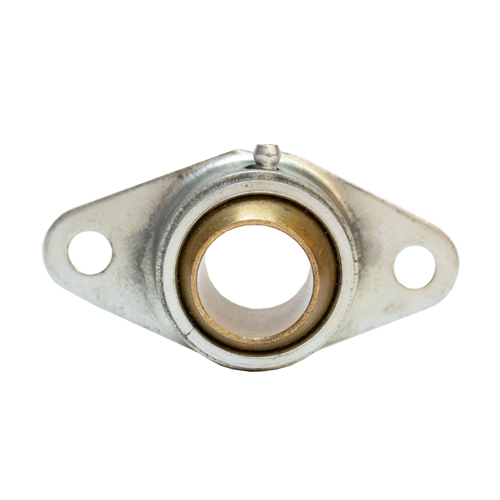 "Sintered Bronze 2 Bolt Flange Bearing with Ring, 13 Gauge  - 1      "", part number FG4016G, FG Series, primary image"
