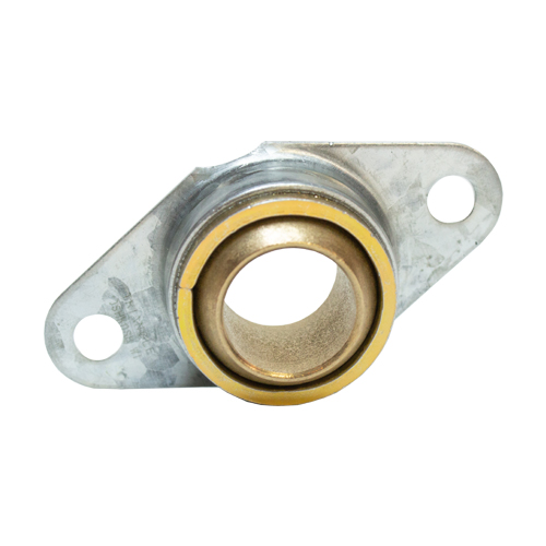 Sintered Bronze Bearing Ball 2 Bolt Flange Bearing with Ring, 13 Gauge - 1""