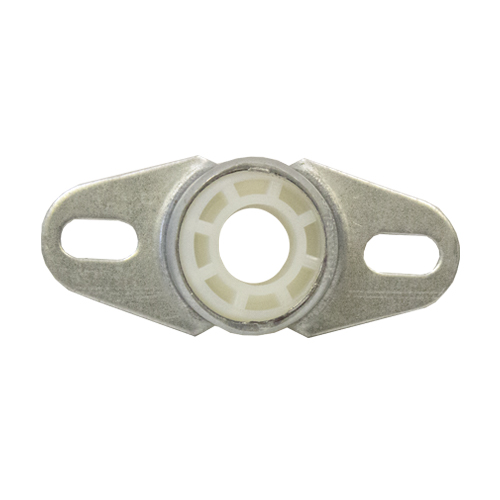 Molded Nylon Bearing Ball 2 Bolt Flange Bearing, 16 Gauge -  1/2""