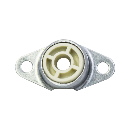 Molded Nylon Bearing Ball 2 Bolt Flange Bearing, 16 Gauge -  3/8""