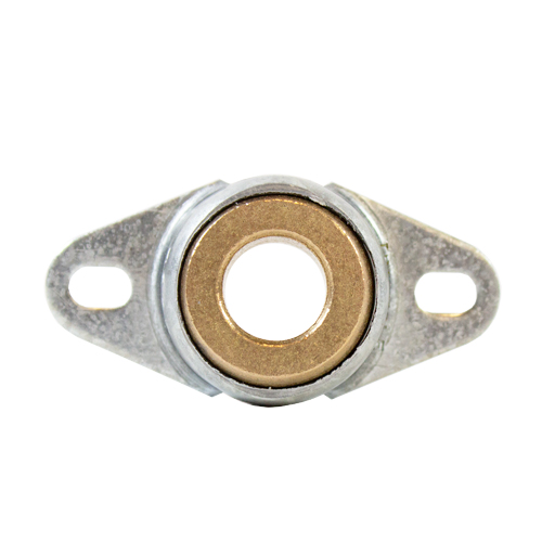 Sintered Bronze Bearing Ball 2 Bolt Flange Bearing, 16 Gauge -  1/2""
