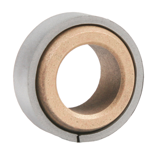 "Sintered Bronze Spherical Bearing with Ring, 16 Gauge  -   1/2 "", part number HB1108P, HB Series, primary image"