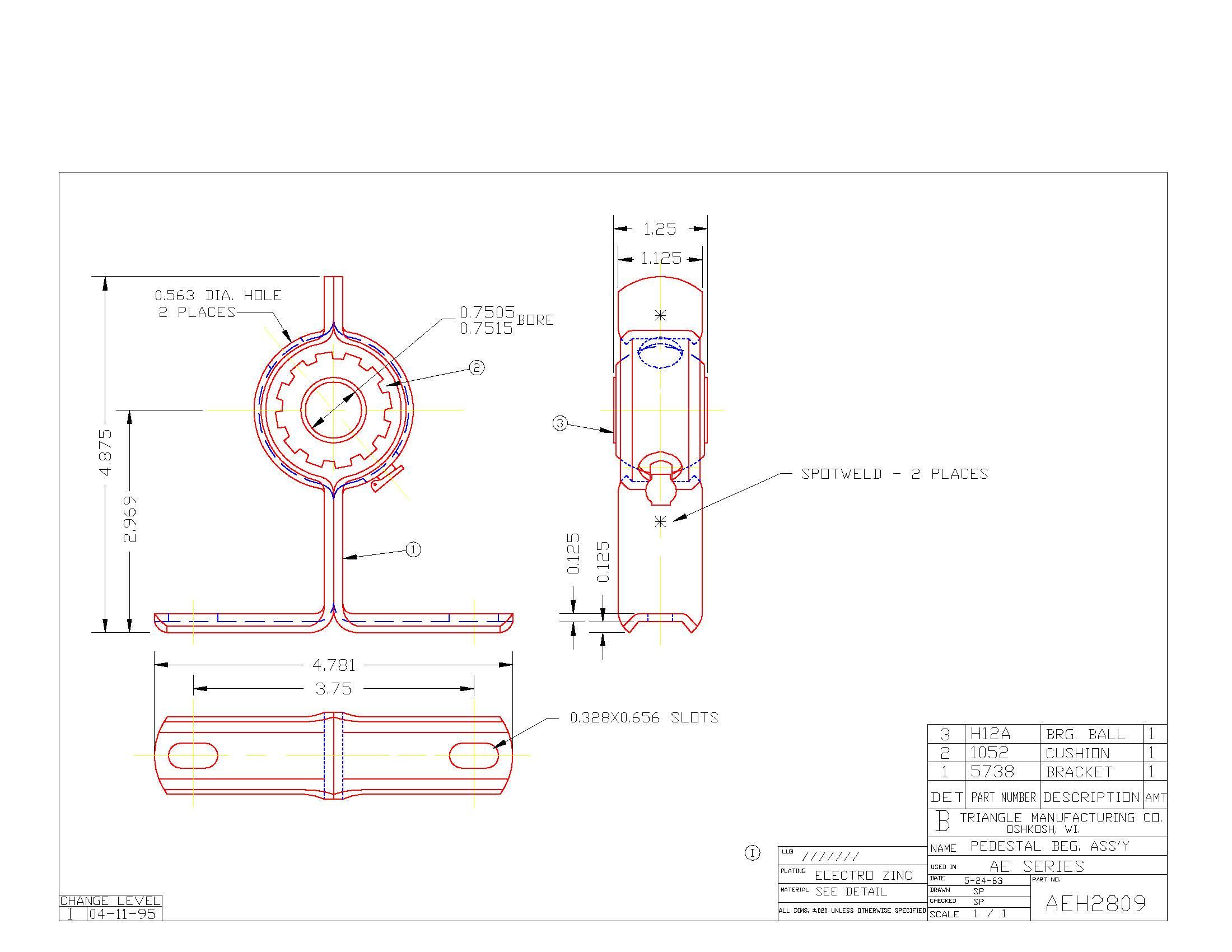 Pedestal Bearing AEH2809
