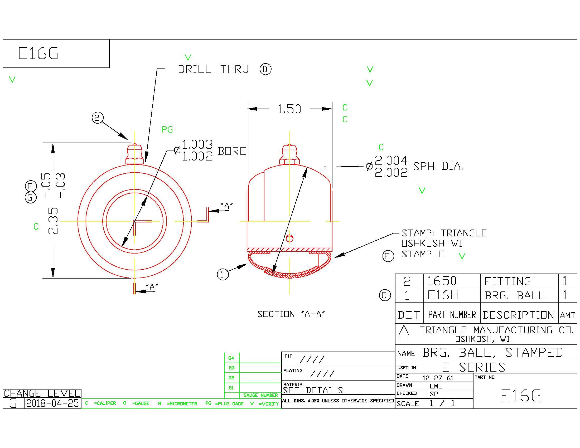 Spherical Plain Bearing E16G