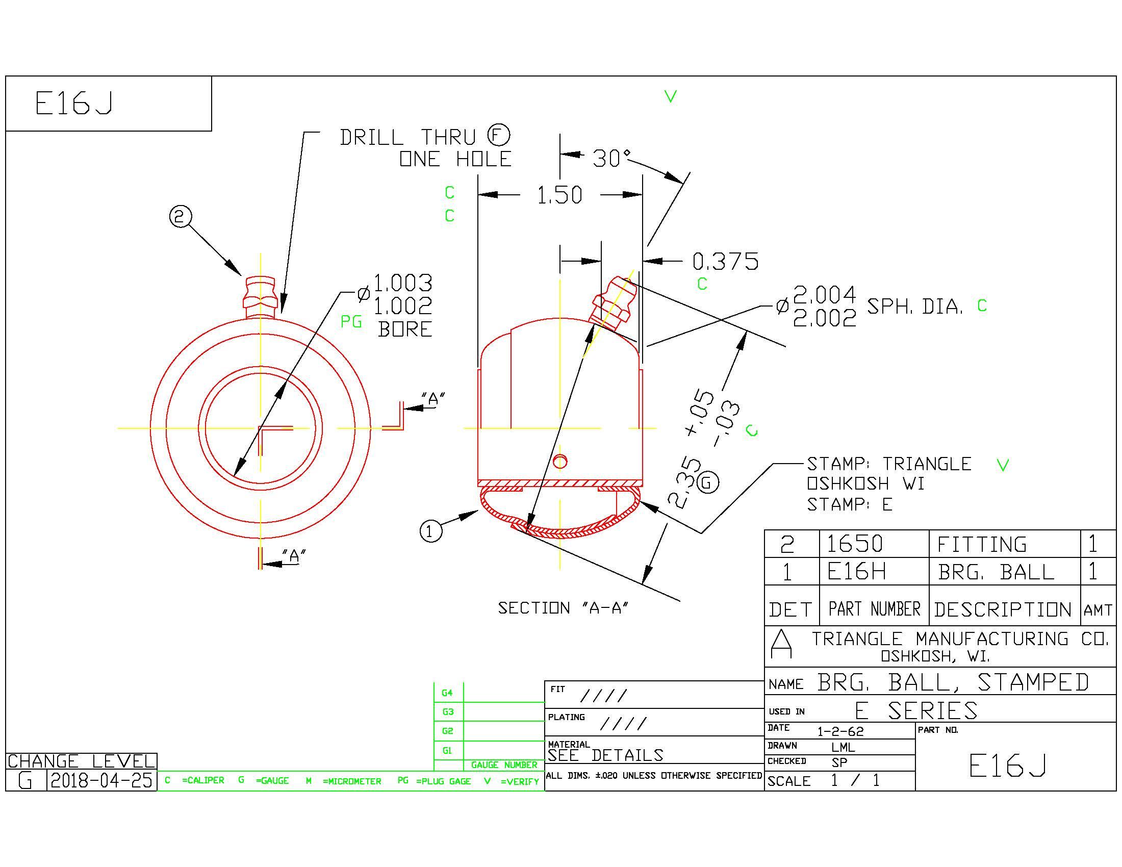 Spherical Plain Bearing E16J