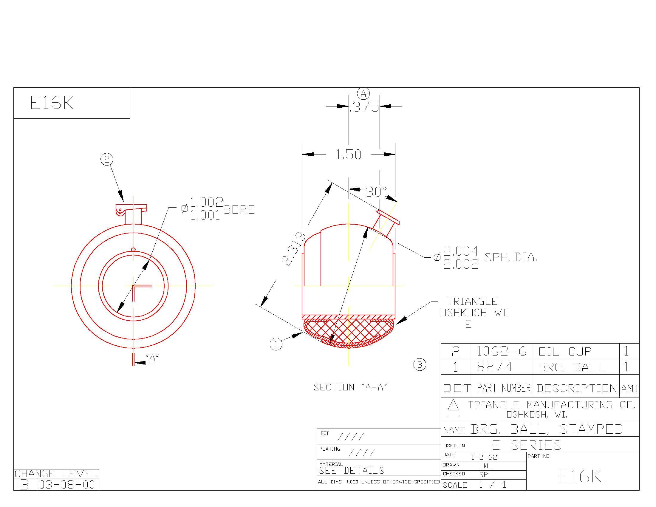 Spherical Plain Bearing E16K