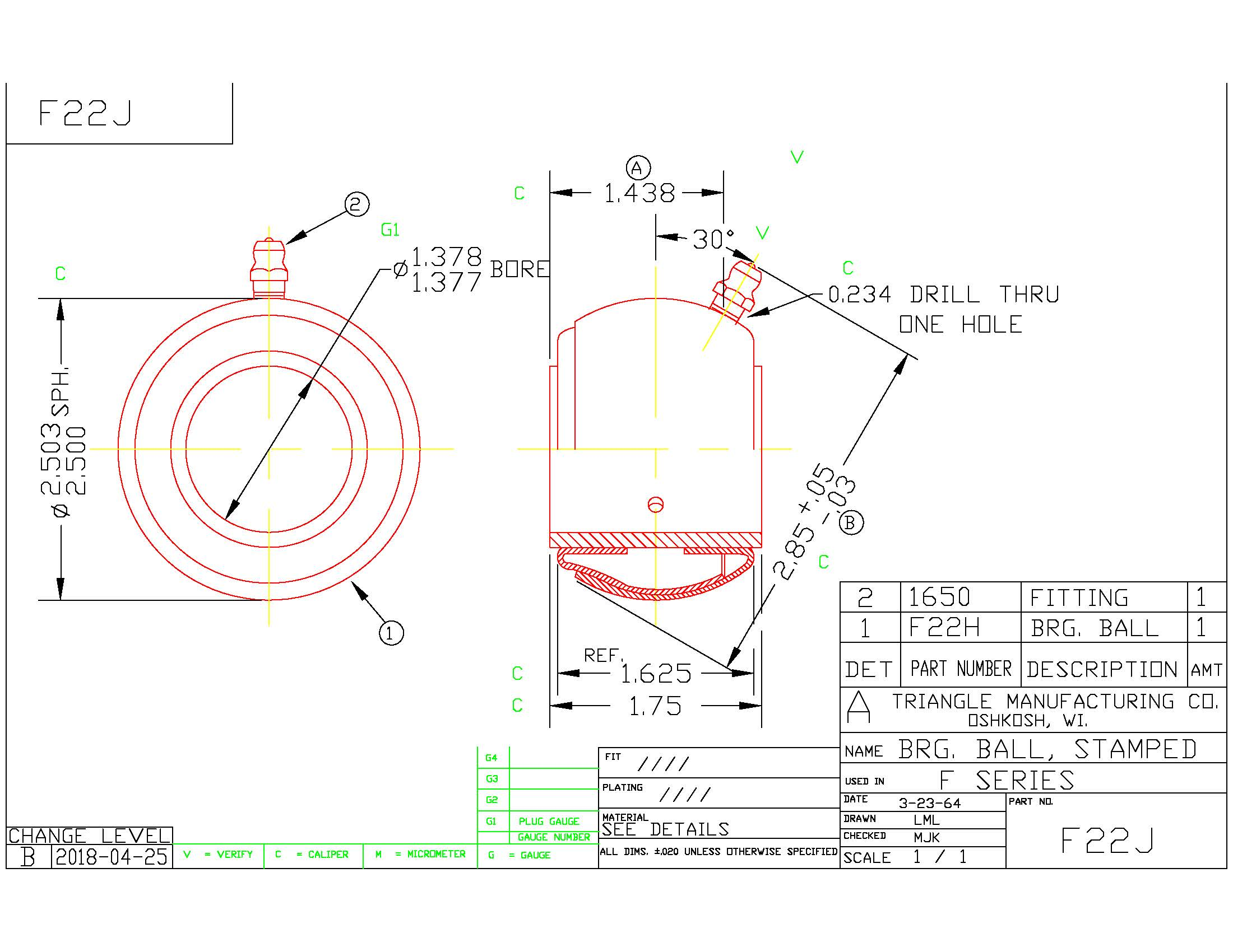 Spherical Plain Bearing F22J