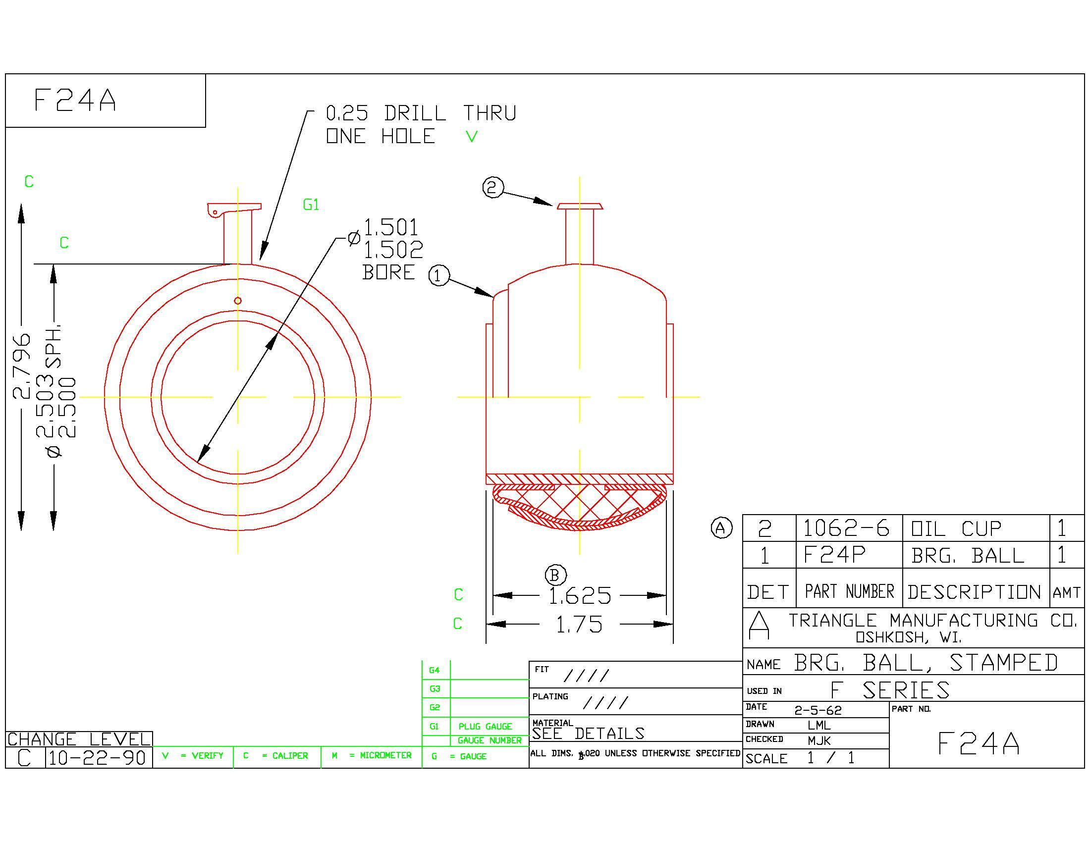 Spherical Plain Bearing F24A