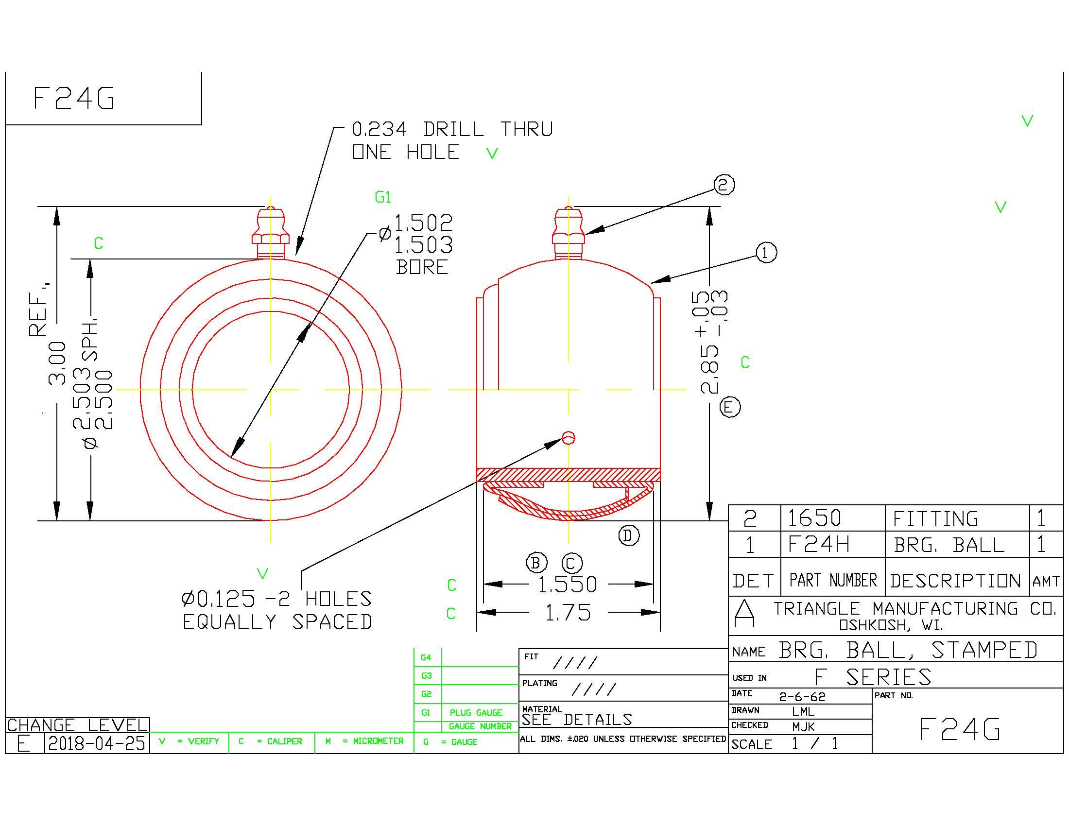 Spherical Plain Bearing F24G
