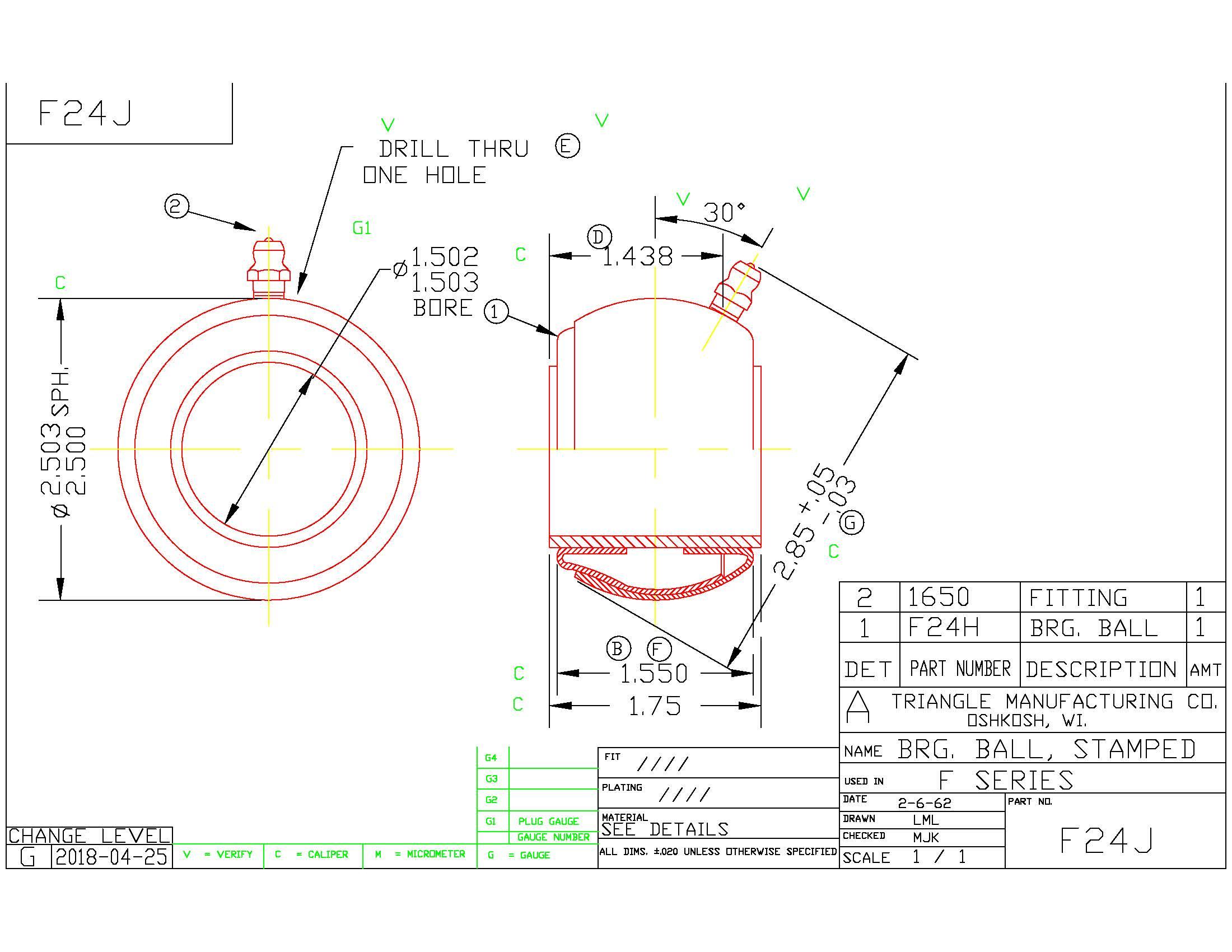Spherical Plain Bearing F24J