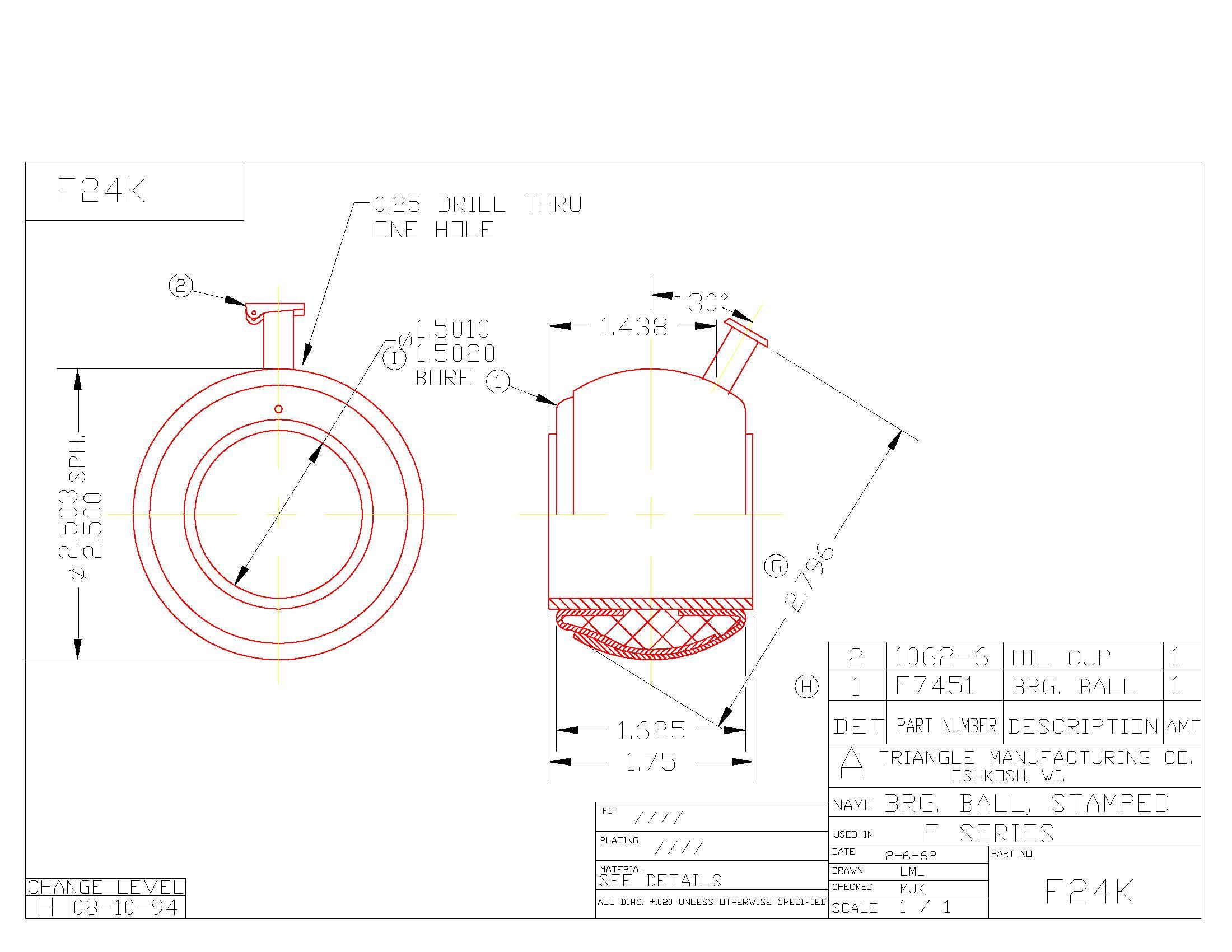 Spherical Plain Bearing F24K