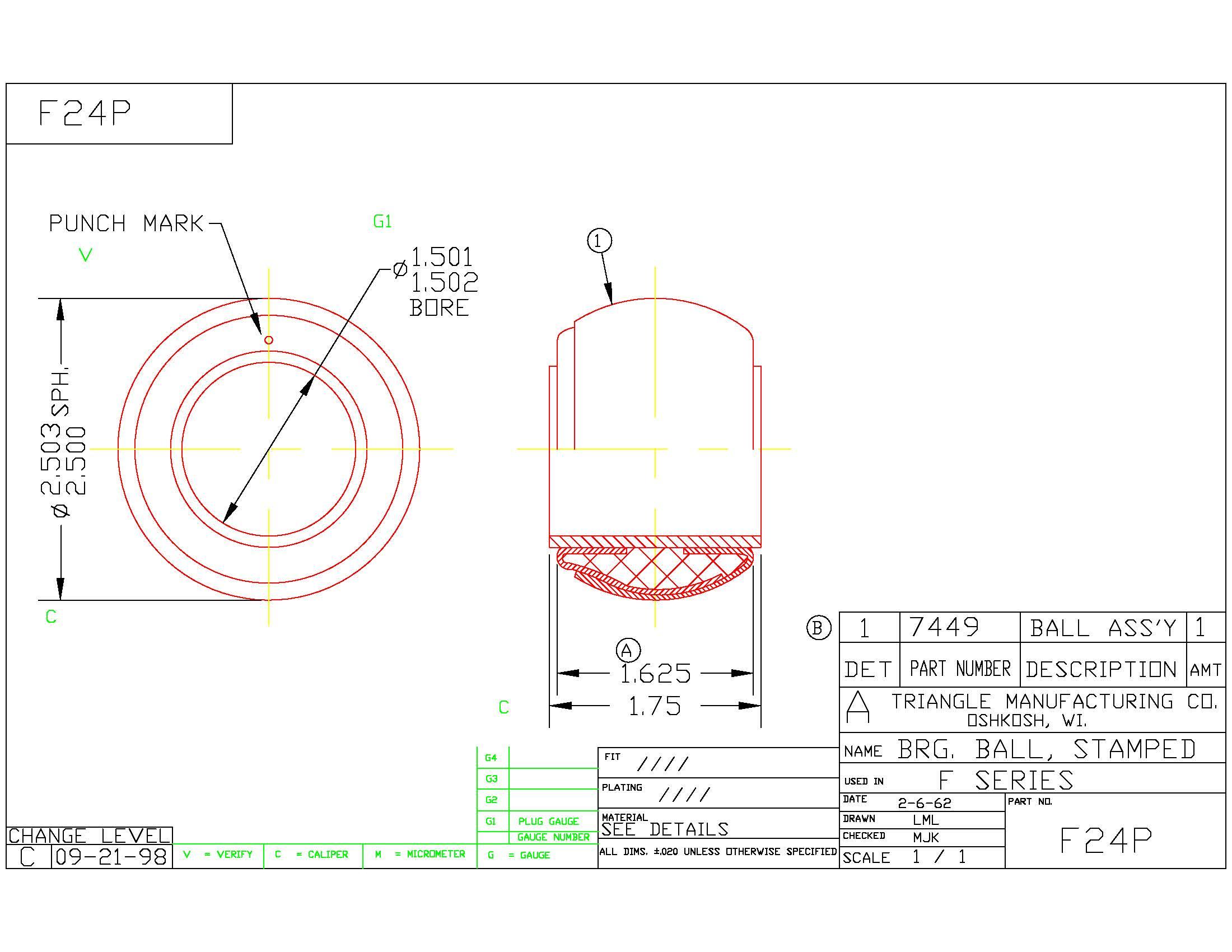 Spherical Plain Bearing F24P