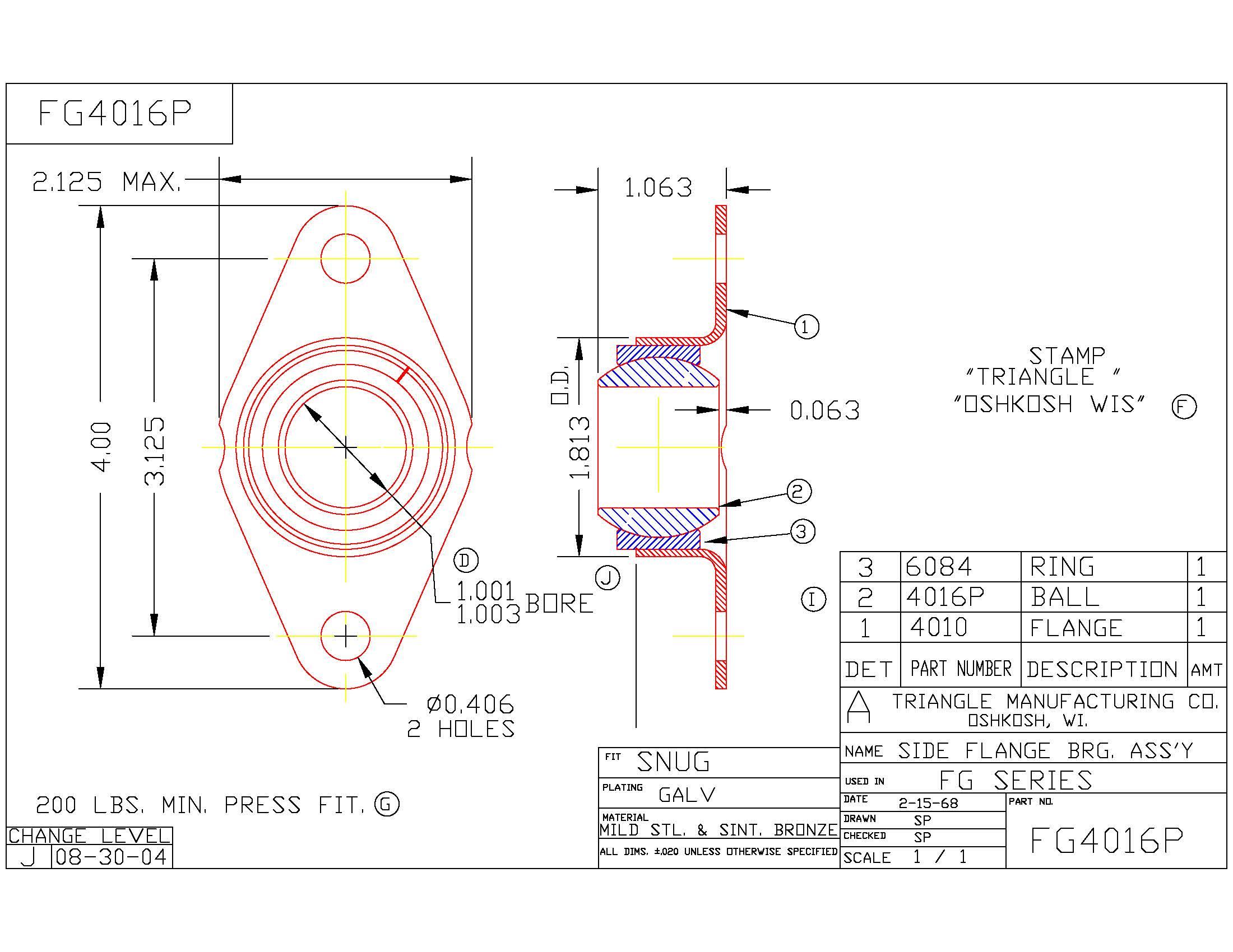 Flange Bearing FG4016P