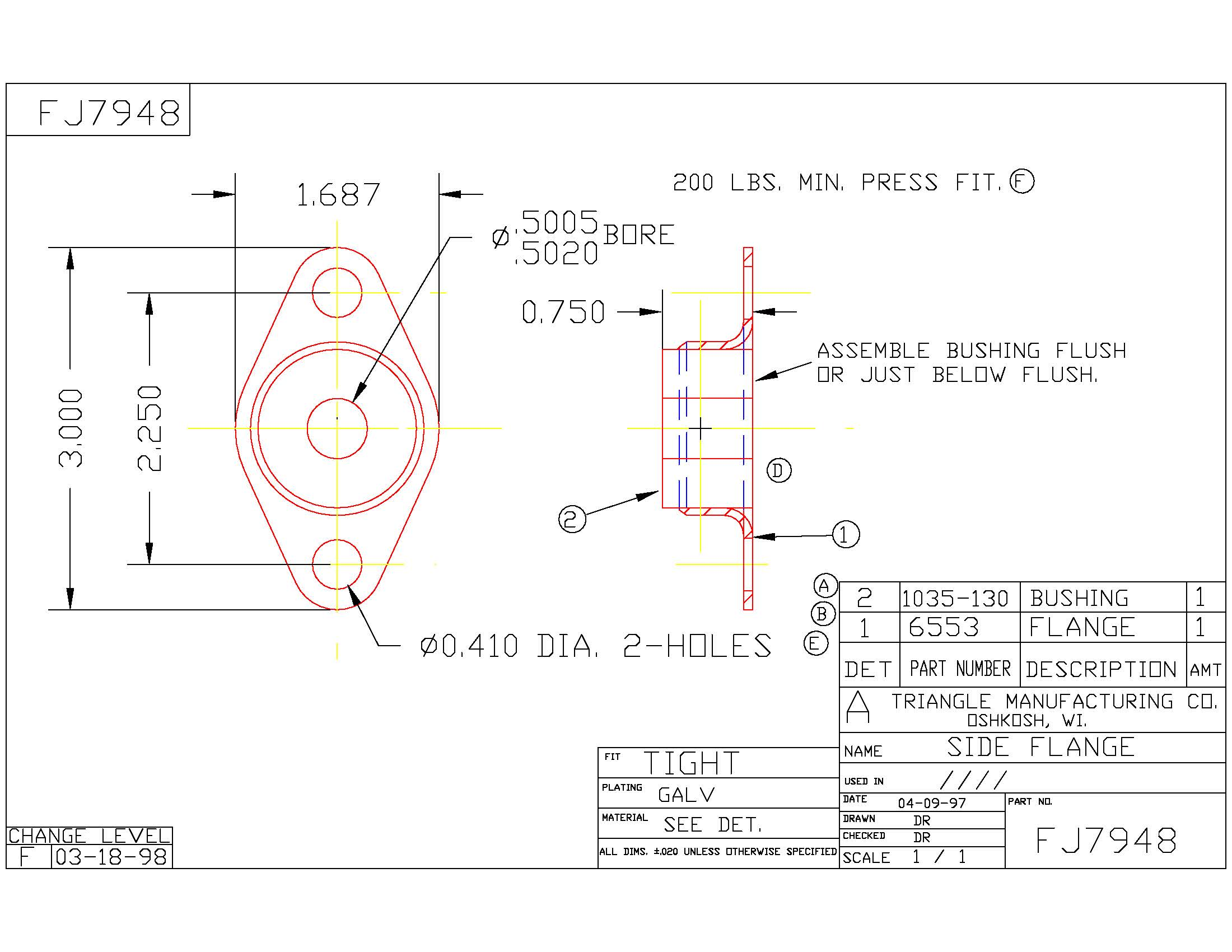 Flange Bearing FJ7948