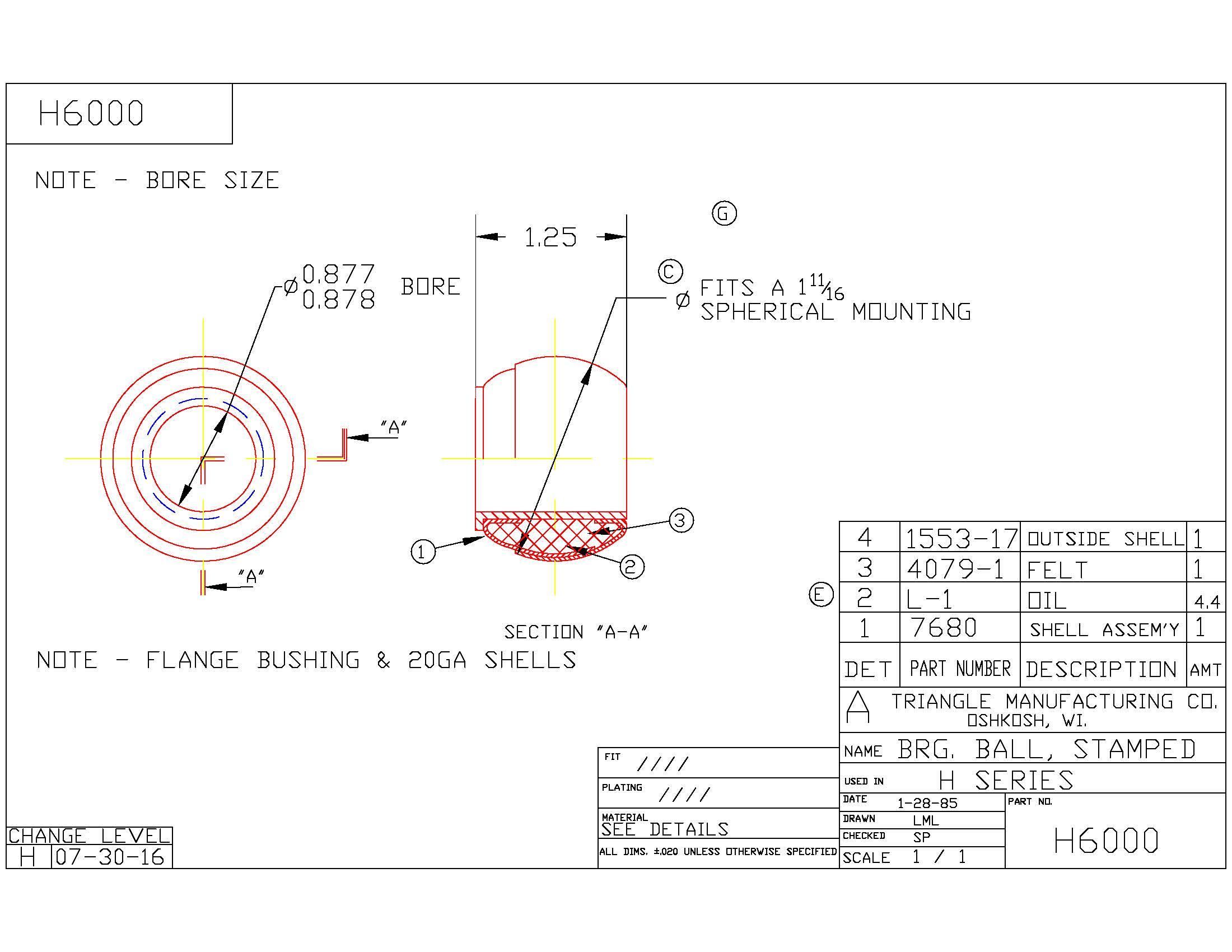 Spherical Plain Bearing H6000