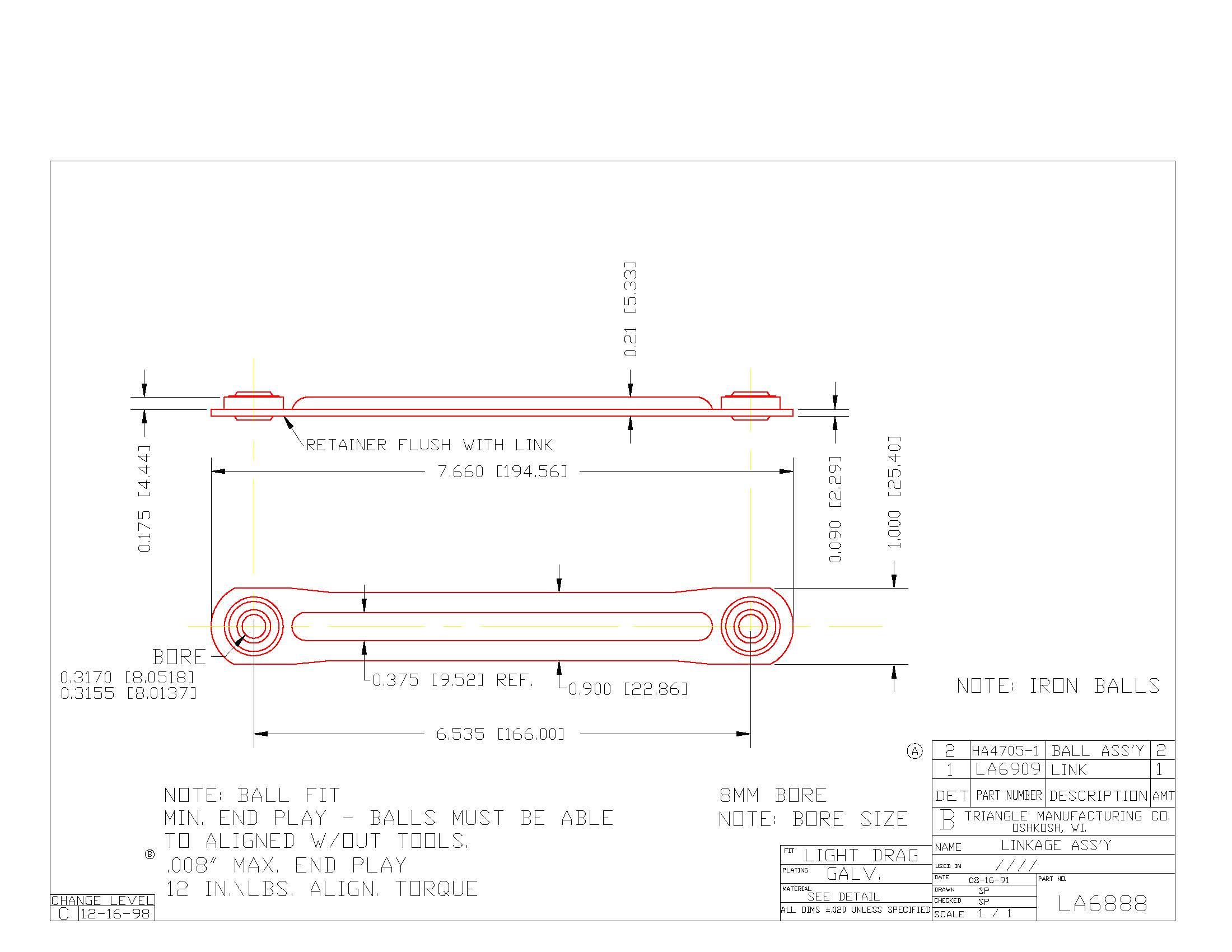 Linkage Assembly LA6888