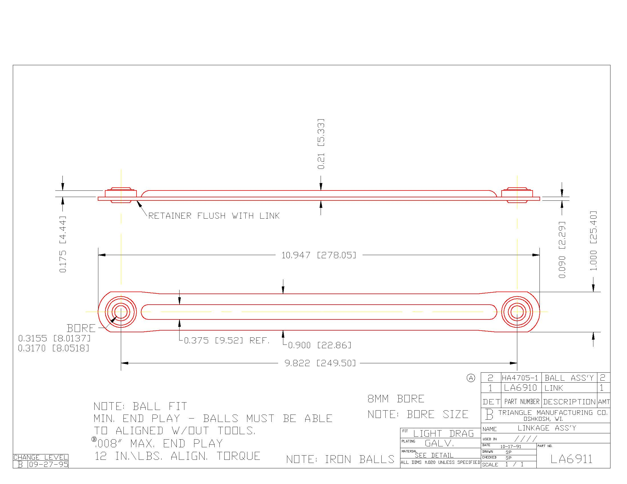 Linkage Assembly LA6911