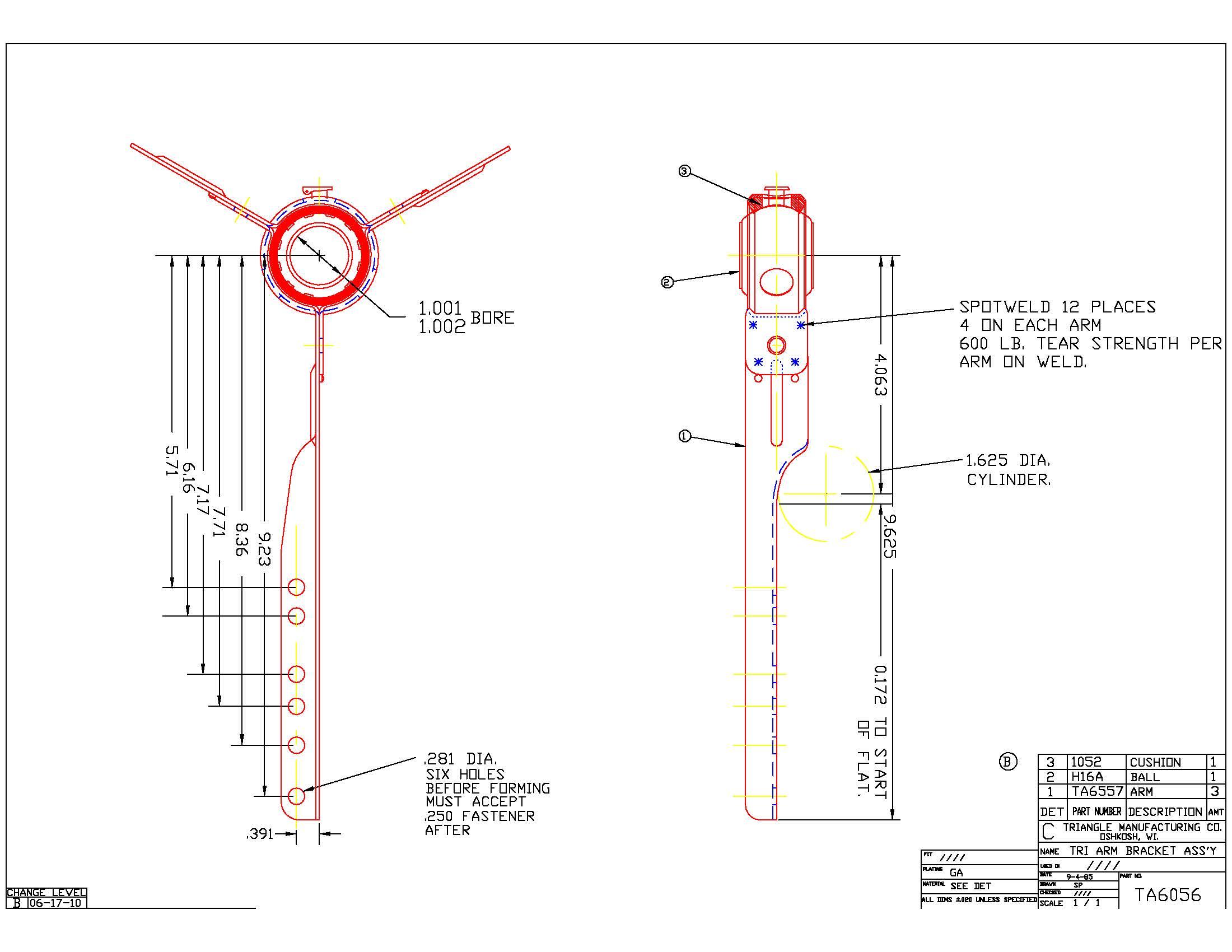 Spider Blower Bearing Bracket with Bearing TA6056