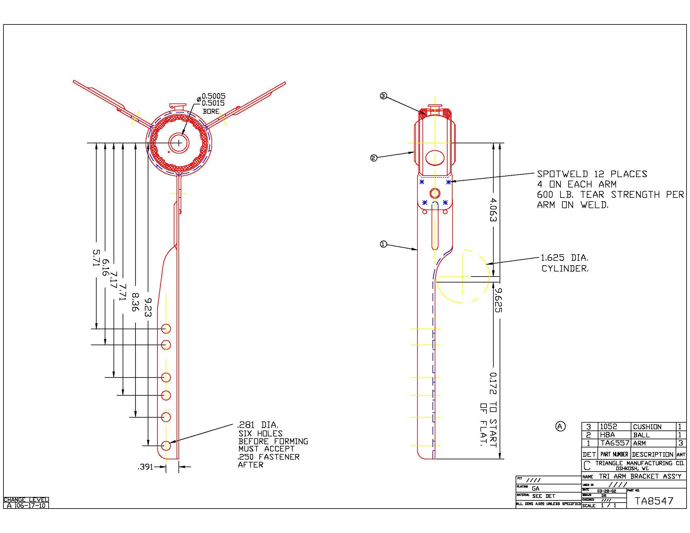Spider Blower Bearing Bracket with Bearing TA8547