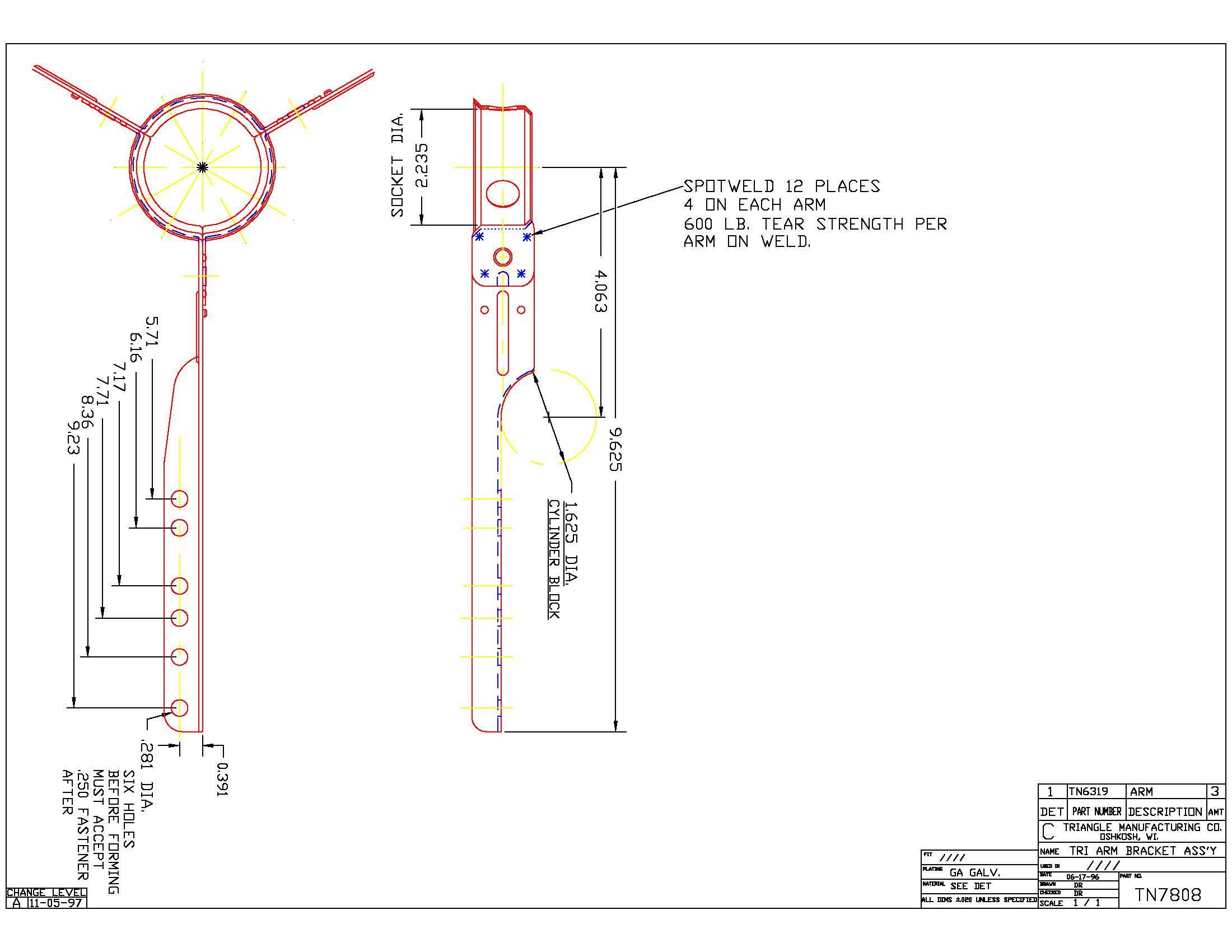 Spider Blower Bearing Bracket TN7808