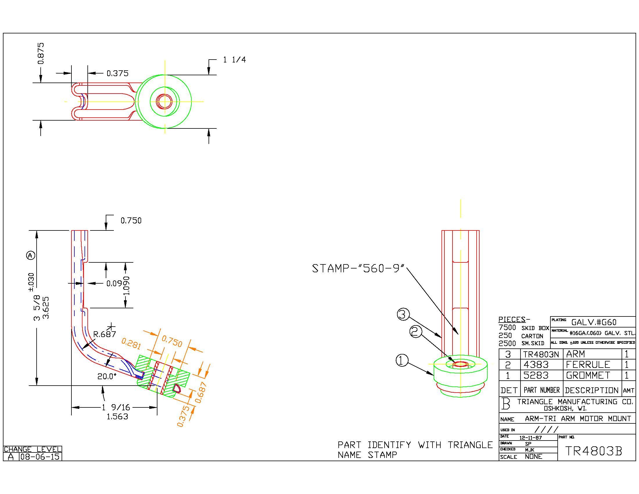 Motor Mount Arm TR4803B